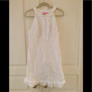 Lilly Pulitzer Jacqueline White Ruffle Dress 10
